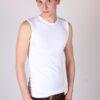 Heren T-shirt Mouwloos Wit