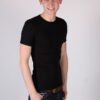 Heren T-shirt Ronde Hals Zwart (2)