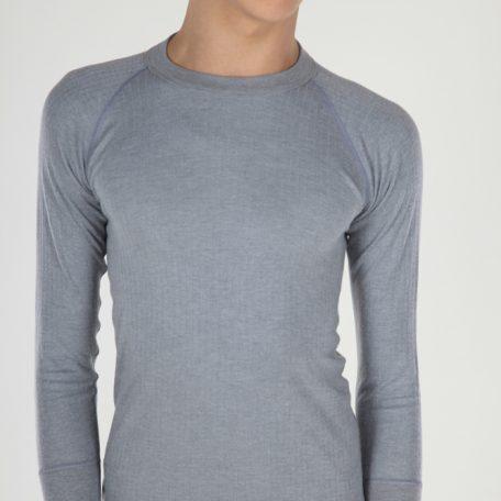 Thermo grijs unisex hemd lange mouwen