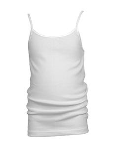 Beeren meisjeshemd britney smalle bandjes wit en zwart