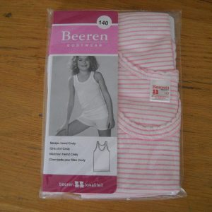 Beeren meisjes hemd Cindy roze/witte streep