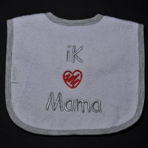 Slabbetje I love mama