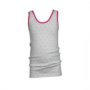 Beeren meisjes hemd wit/roze met stipje