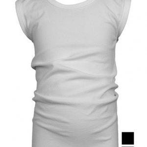 Beeren jongens mouwloos shirt young wit en zwart