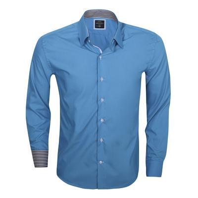 Arya Boy Overhemd.Arya Boy Turquoise 85168 Slimflit Overhemd Schitterend Italiaans