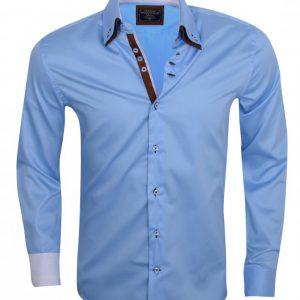 WAM Denim Lblauw 75188 –  Slimflit Overhemd – Schitterend Italiaans Design