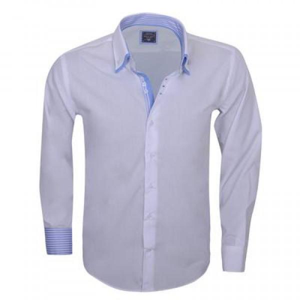 Overhemd Italiaans Design.Arya Boy White 85164 Slimflit Overhemd Schitterend Italiaans