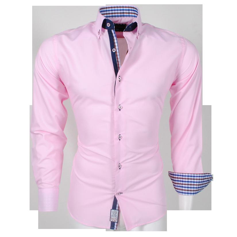 Overhemd Italiaans Design.Arya Boy Pink 85163 Slimflit Overhemd Schitterend Italiaans