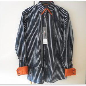 WAM Denim Dark/Navy 75149 – Slimflit Overhemd – Schitterend Italiaans Design