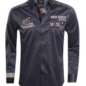WAM SPECIAL antraciet 75194 – Slimflit Overhemd – Schitterend Italiaans Design