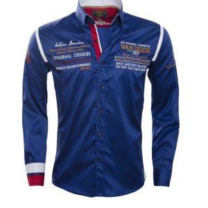 WAM SPECIAL teal 75165 – Slimflit Overhemd – Schitterend Italiaans Design