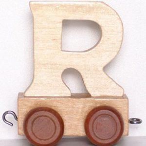 """Lettertrein Hout """"R"""""""