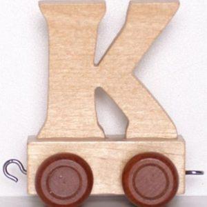 "Lettertrein Hout ""K"""