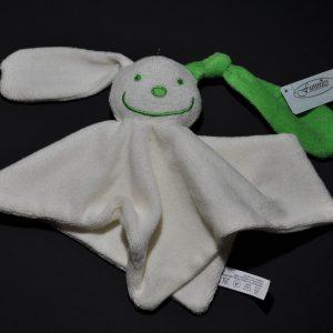 Funnies Tutpoppetje met gekleurd oor ecru/groen