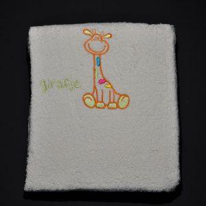Waskussenhoes Girafje Oranje
