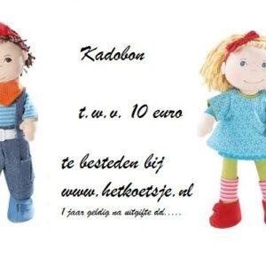 Kadobon t.w.v. €10,00