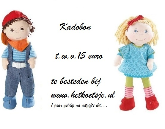 voorkant website kadobon 15 euro
