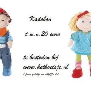 Kadobon t.w.v. €20,00