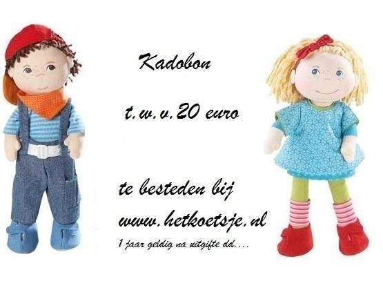 voorkant website kadobon 20 euro