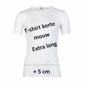 Beeren heren t-shirt korte mouw +5cm (extra lang) wit en zwart
