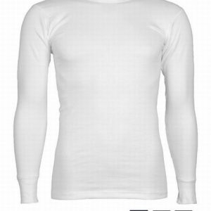 Beeren tricot heren t-shirt r-hals lange mouw (wit, zwart, marine)