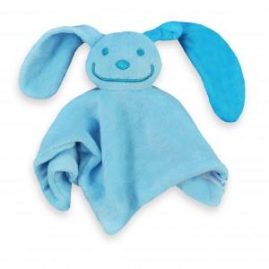 Funnies Tutpoppetje met gekleurd oor (blauw met turquoise)