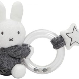 Nijntje ring grijs gebreid Rammelaar (NIJN1070)
