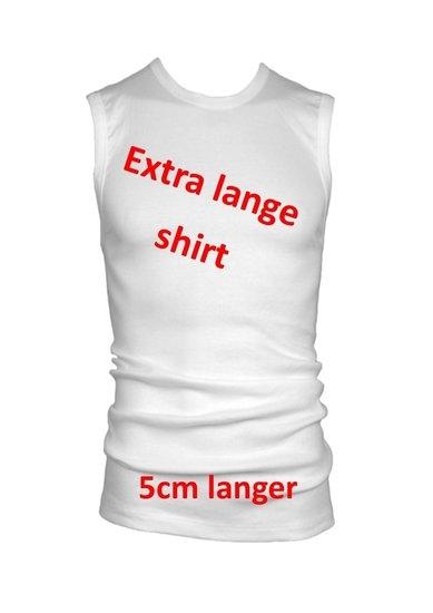 mouwloos shirt 5cm langer