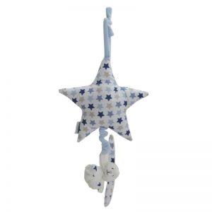 Little Dutch Mixed Stars Blauw. Muziekklokje LD4380
