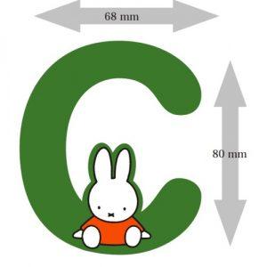 Letter Nijntje 8 cm: C (3390C)