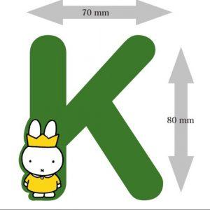 Letter Nijntje 8 cm: K (3390K)
