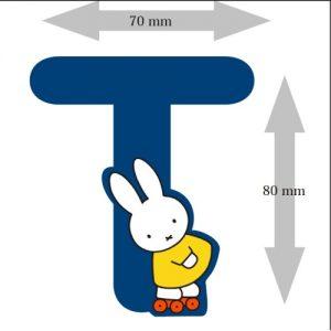 Letter Nijntje 8 cm: T (3390T)