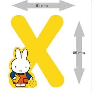 Letter Nijntje 8 cm: X (3390X)