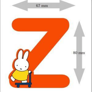 Letter Nijntje 8 cm: Z (3390Z)