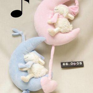 Muziekknuffel Schaapje Roze (Pluche)