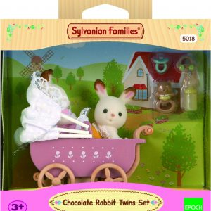 Sylvanian Families (5018) Set Tweeling Chocoladekonijn Kinderwagen