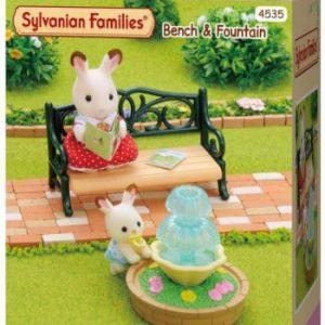 Sylvanian Families (4535) Bankje en fontein