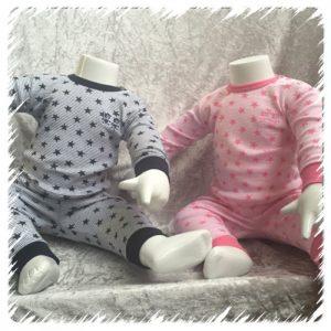 Beeren Baby Pyjama Sterren Roze en Navy