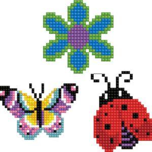 Stickerset Dotzies 3 stuks: Garden 8×8 cm (DTZ12.008)