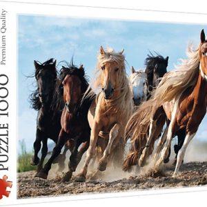 Puzzel Paarden in galop: 1000 stukjes (10446)