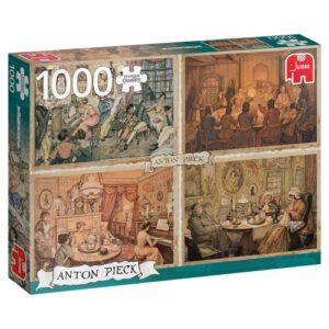 Puzzel Anton Pieck: Vermaak in de woonkamer 1000 stukjes (18856)