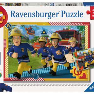Puzzel Brandweerman Sam en zijn team: 2×12 stukjes (050154)