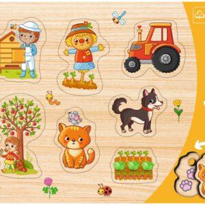 Puzzel hout Boerderij: 7 stukjes (31306)