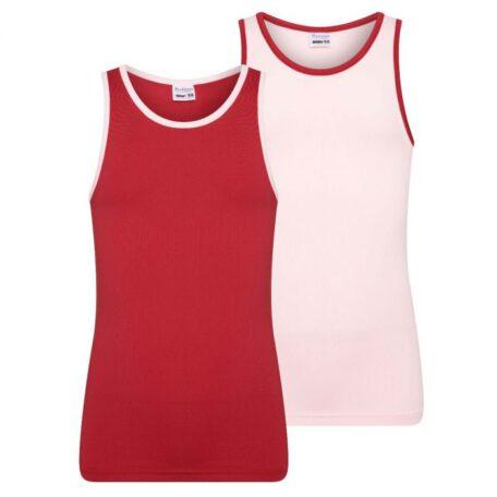 m&m roze rood hemd