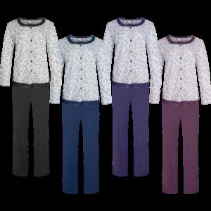 Fine Woman, Dames Pyjama, 4 kleuren